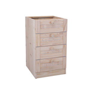 Pine 4 Drawer Base Unit 500