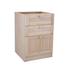 Pine Base Unit Pot Drawer 600