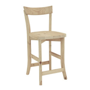 Pine Cafe Kitchen Stool 600ht