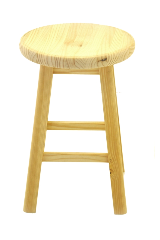Pine Pub Kitchen Stool 600 Ht