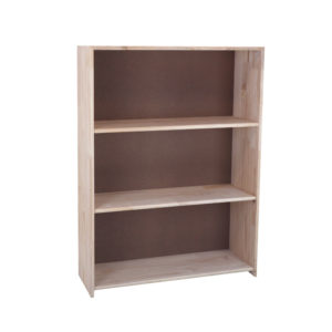 Pine 3 Section File Bookcase