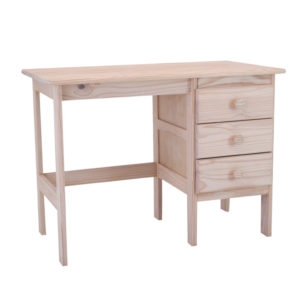 Pine E Desk 3 Drawers