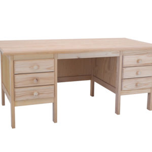 Pine E6 Drawer Desk
